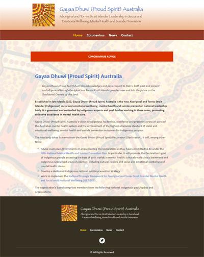 Gayaa Dhuwi (Proud Spirit) Australia website homepage