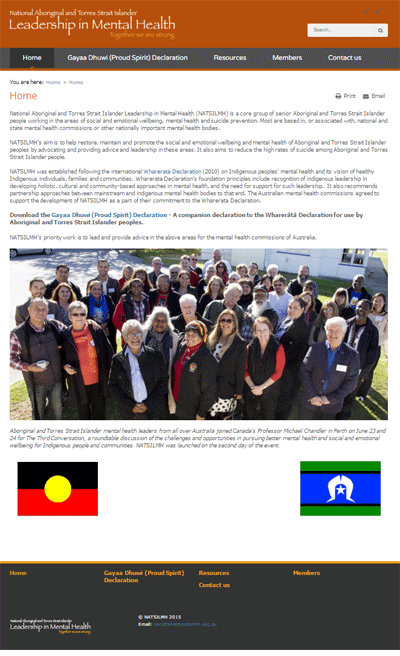 National Aboriginal and Torres Strait Islander Leadership in Mental Health