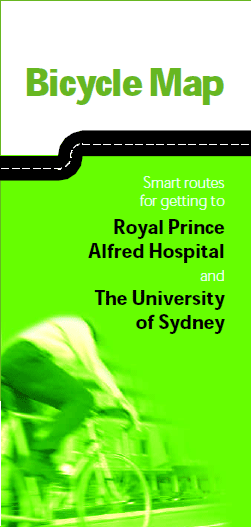 Bicycle map: smart routes for getting to Royal Prince Alfred Hospital and The University of Sydney