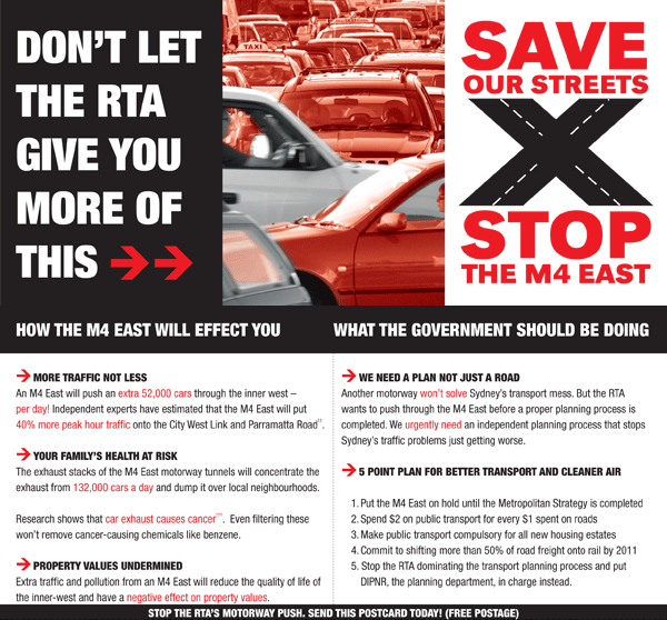 Stop the M4 East
