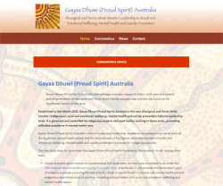 Gayaa Dhuwi (Proud Spirit) Australia website homepage